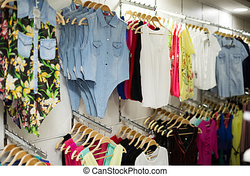 store with shirts