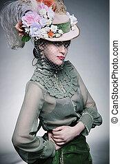 Fashionable beauty posing