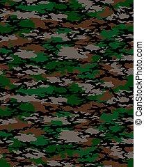 Fashionable camouflage pattern