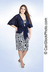 fashionable clothes. woman model in stylish dress. plus size