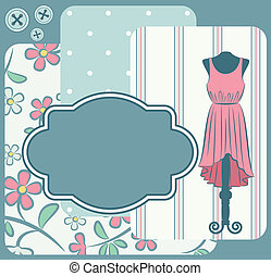 Fashionable dress with flowers