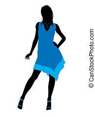 Fashionable Female Illustration Silhouette - Fashionaly...