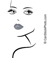 Fashionable girl abstract portrait