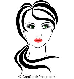 fashionable girl, vector illustrations on a white background...