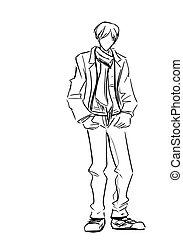 Fashionable guy