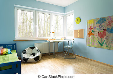 Fashionable kid's room - Fashionable new kid's room with...