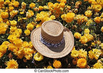 Fashionable ladies' straw hat