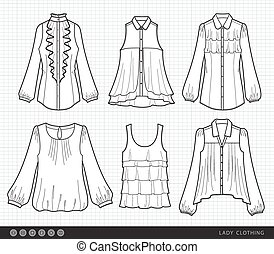 Fashionable lady clothes