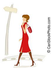 fashionable lady