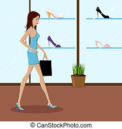 Fashionable Lady Shopping