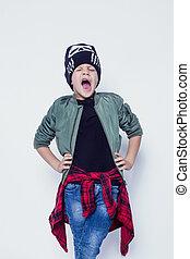 Fashionable little bad boy