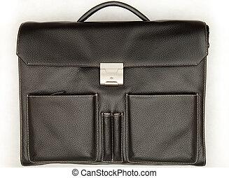 Fashionable men\'s portfolio. Portfolio black leather...