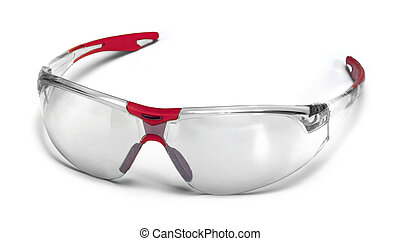 fashionable protective glasses in white back