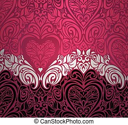 Fashionable red vintage background