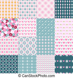 fashionable seamless patterns - pretty and fashionable...