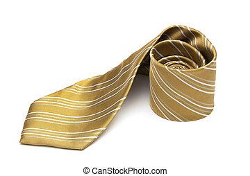 striped necktie - Fashionable striped necktie on a white...