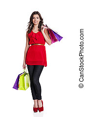 Fashionable woman on the shopping