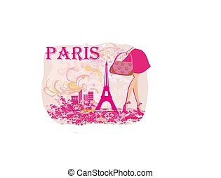 fashionable woman shopping in Paris