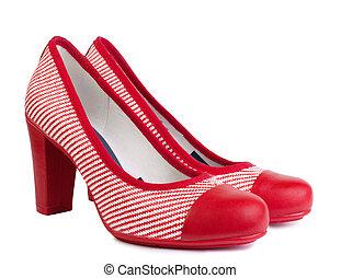fashionable women's high heel shoes.