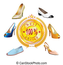 Fashionable women's shoes with stic