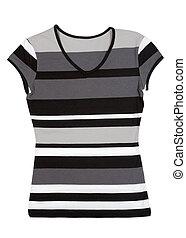 Fashionable women's striped blouse