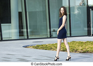 Fashionable young attractive woman