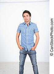 Fashionable young man