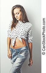 Fashionable young  woman.