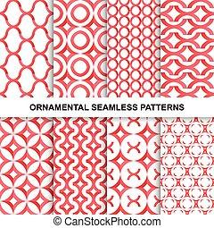 Fashoinable ornamental patterns - seamless.