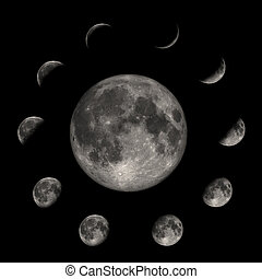 fasi, luna