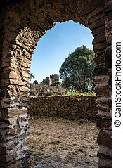 Fasil Ghebbi is the remains of a fortress-city within Gondar...