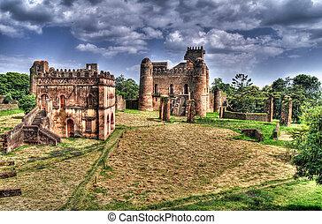 Fasilidas palace in Fasil Ghebbi site Gonder - Fasilidas ...