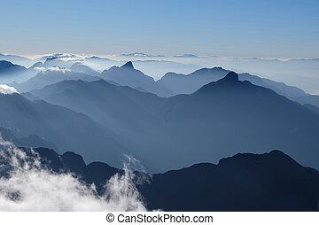 mountain in morning