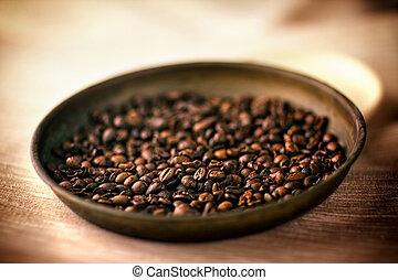 fasola, szczegół, coffe