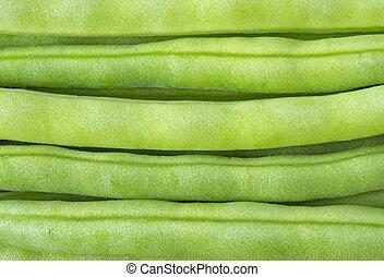 fasola, wizerunek, zielony, do góry szczelnie