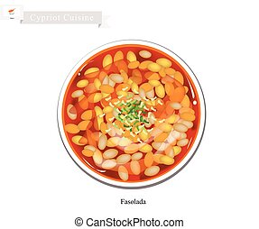 Fasolada or Traditional Cypriot White Bean Soup