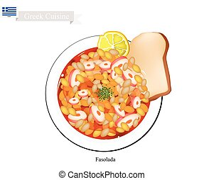 Fasolada White Bean Soup, The National Dish of Greece