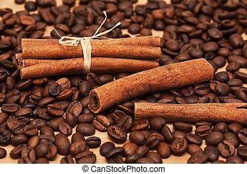 fasole kawy, cynamon
