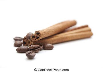 fasole kawy, cynamonowe pałki
