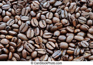 fasole kawy, tło, upieczony