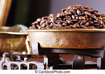 fasole kawy, waga czyszczą z łusek