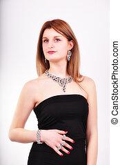 fason, kobieta, biżuteria