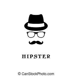 fason, sylwetka, hipster.