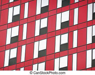 fassade, schwarz rot