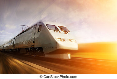 fast, 기차, 와, 모션 더러움