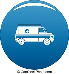 Fast ambulance icon vector blue
