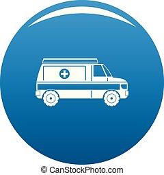 Fast ambulance icon vector blue