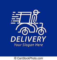 Fast and free delivery logo vector.