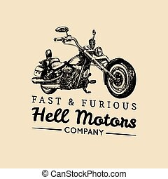 Fast And Furious advertising poster. Vector hand drawn...