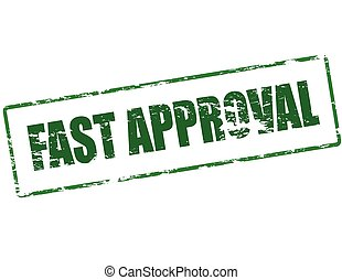 Fast approval - Rubber stamp with text fast approval inside,...
